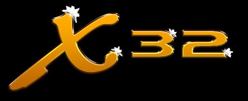 X32 compact 3D logo